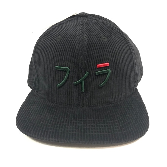 5a76e35ca19293 Fila Accessories | Japanese Corduroy Baseball Hat Black | Poshmark